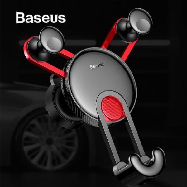 Giá đỡ điên thoại trên xe ô tô Baseus với chân sạc usb và lightnng cho iphone - Phân phối bởi Baseus Vietnam