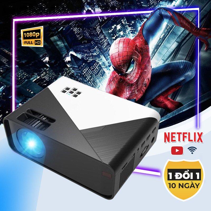Máy Chiếu Mini ALUH X5 Pro Max FullHD,1080p đa năng phục vụ gia đình xem phim 4k sắc nét
