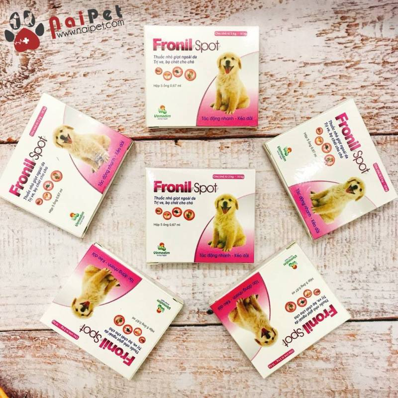 Dung Dịch Nhỏ Gáy Phòng Và Loại Bỏ Ve Rận Bọ Chét Cho Chó Fronil Spot - 1 Tuýp
