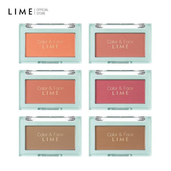 Phấn Má Hồng Đa Năng Lime Color & Face Single Blusher 4.5g, cho gương mặt sáng rạng rỡ hơn, phù hợp cho mọi loại da