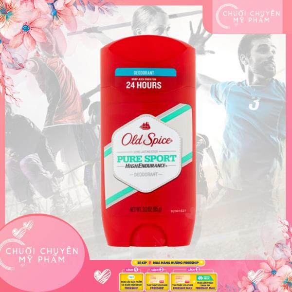 Lăn Khử Mùi Old Spice Pure Sport 85g HighEndurane | Lăn sáp khử mùi nam Old Spice Pure Sport 85g [ngăn tiết mồ hôi vùng nách; thơm dịu nhẹ; khô thoáng thời gian dài]