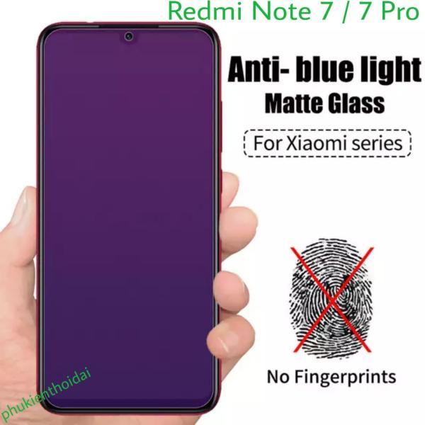 Cường lực Xiaomi Redmi Note-7 / 7 Pro tím chống tia UV hại mắt full 98% 9H / 2.5D ( tặng keo chống hở mép )