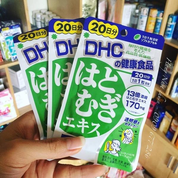 Viên uống trắng da DHC Coix 20 ngày Nhật Bản, chưa vitamin E làm đẹp da, sáng da, da mịn màng