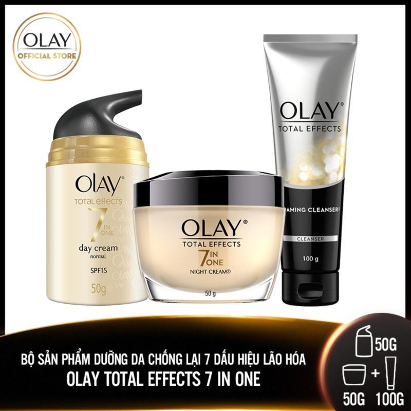 Trọn bộ 3 sản phẩm chăm sóc da Olay Total Effect Chống lại 7 Dấu Hiệu Lão Hóa