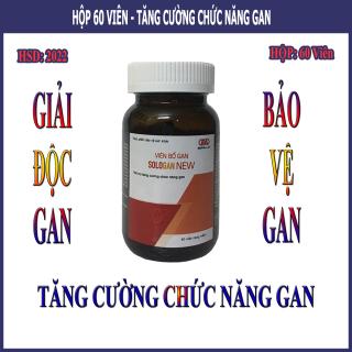 Viên Bổ Gan Sologan New (Hộp 60 Viên) - Sản phẩm của người Việt - cho người Việt. Hỗ trợ giải độc gan - Tăng cường chức năng gan 2
