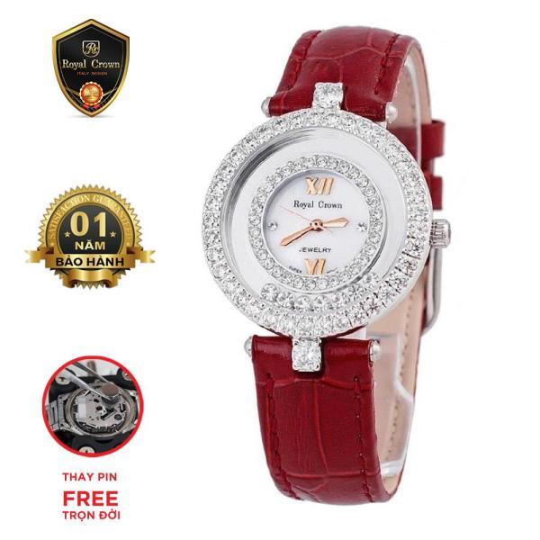 Đồng hồ nữ chính hãng Royal Crown Italy 3628 Strap Watch(Đỏ) bán chạy