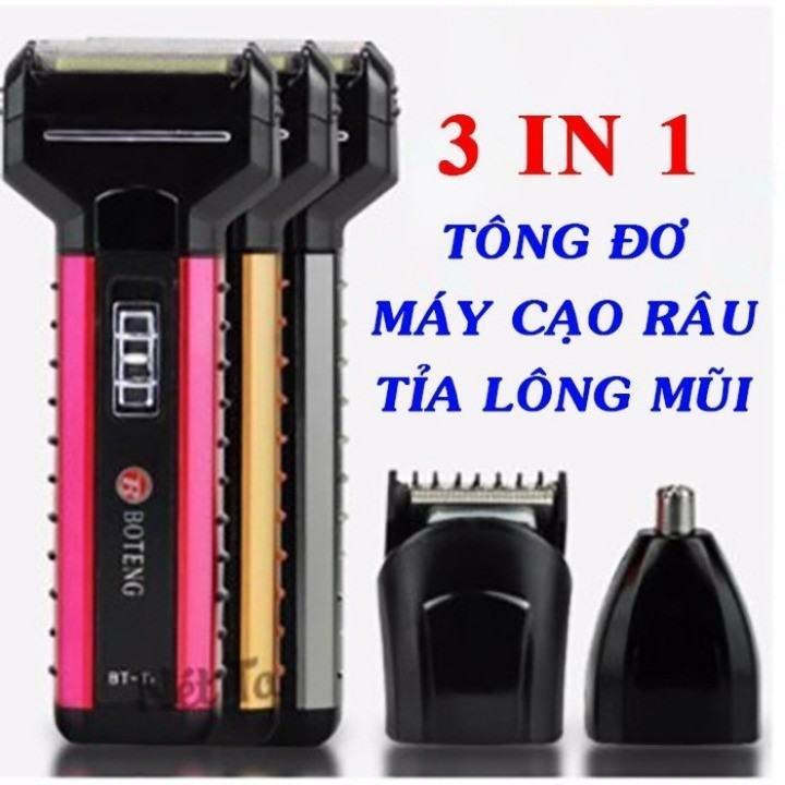 Tông đơ cắt tóc kiêm máy cạo râu máy cắt lông mũi BOTENG - Cam kết hàng đúng như hình bởi shop/Alibabum89