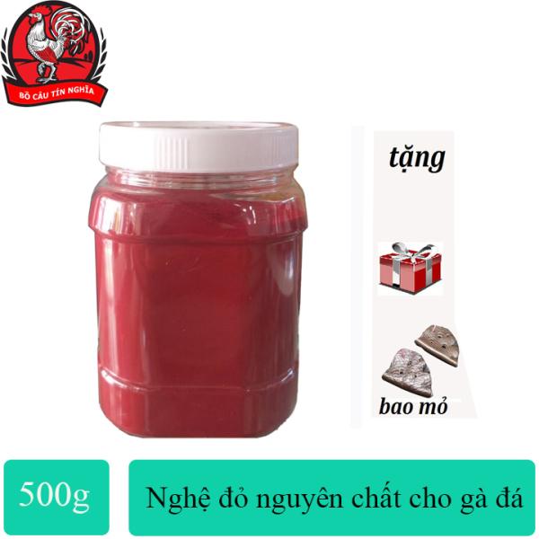 Nghệ Bột Đỏ [Nguyên Chất] Cho Gà Đá Hũ Chiết 500g[ tặng bịt mỏ]