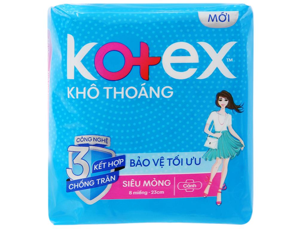 Combo 4 Bịch Băng vệ sinh Kotex khô thoáng Maxi cánh 8 miếng nhập khẩu