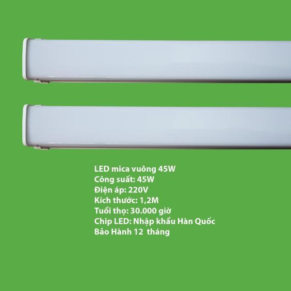 Bộ 2 đèn LED máng đôi mica 45w -1.2 mét
