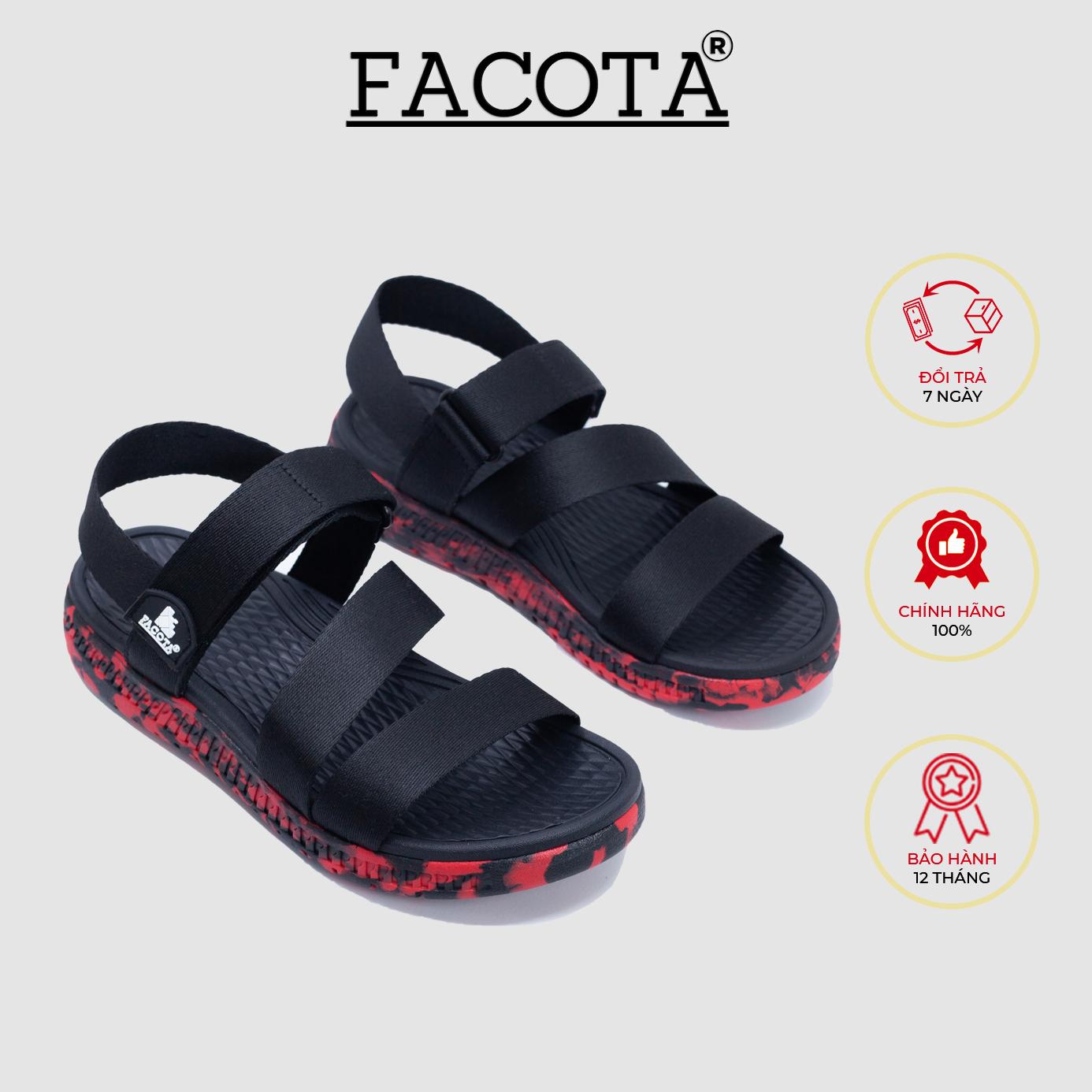 Giày sandal nam Facota HA13 chính hãng sandal thể thao quai dù