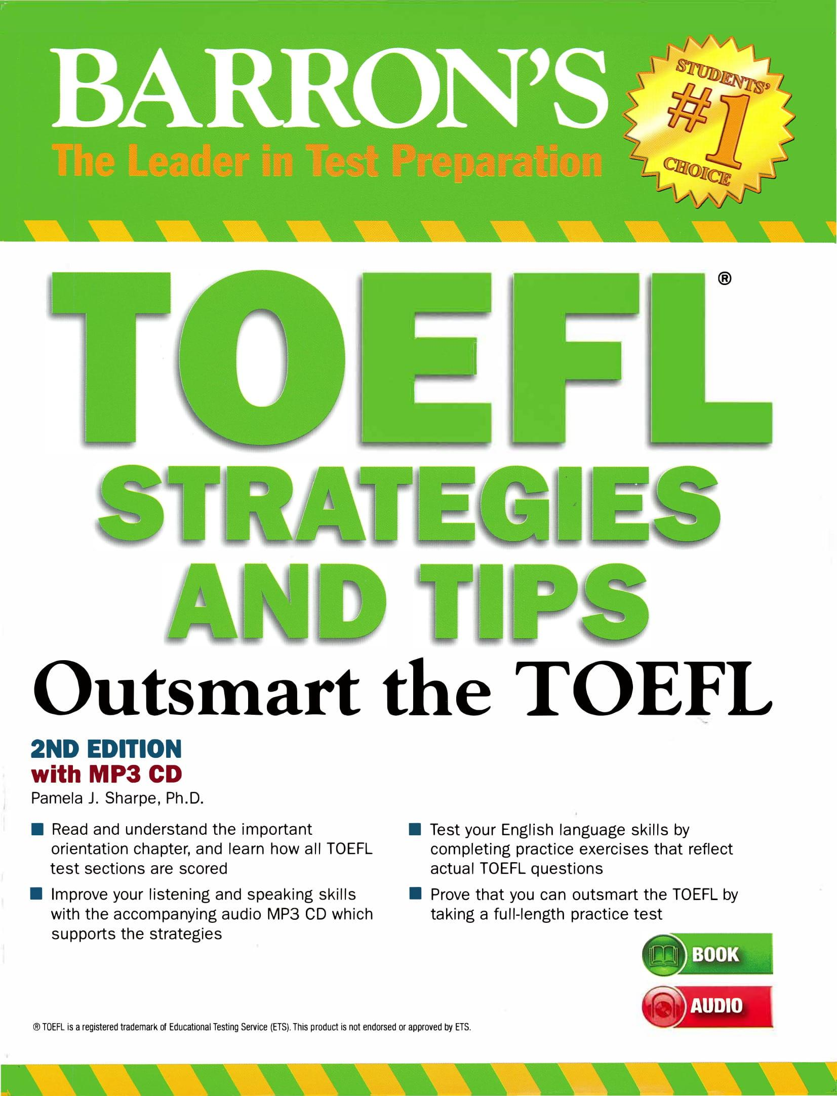 TOEFL Strategies and Tips with MP3 audios: Outsmart the TOEFL iBT Second Edition