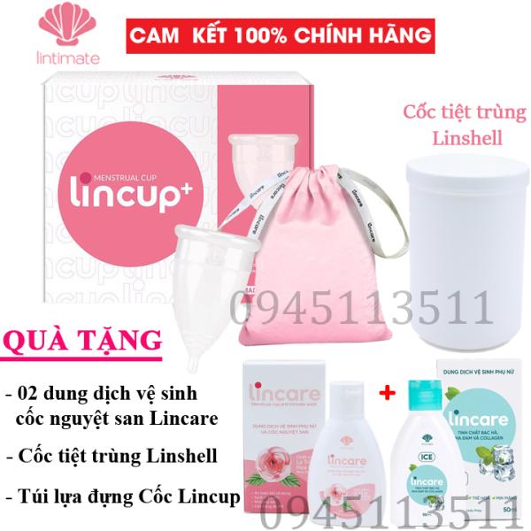 Bộ Cốc nguyệt san Lincup, Lincup+ Chính hãng từ Mỹ bởi Công ty Lintimate nhập khẩu