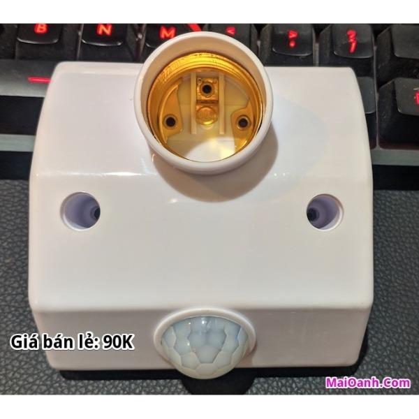Đui đèn cảm ứng hồng ngoại ( tự bật đèn khi có người )