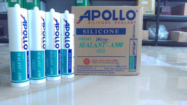 KEO SILICON - APOLLO A500 - TRẮNG TRONG - THÙNG 25 CHAI