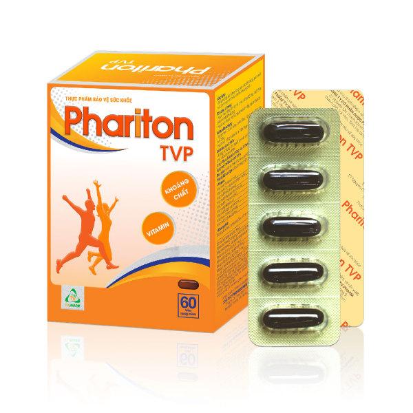 Thực phẩm bảo vệ sức khỏe PHARITON TVP - Bổ sung Vitamin, Khoáng chất thiết yếu cho cơ thể (60 viên)