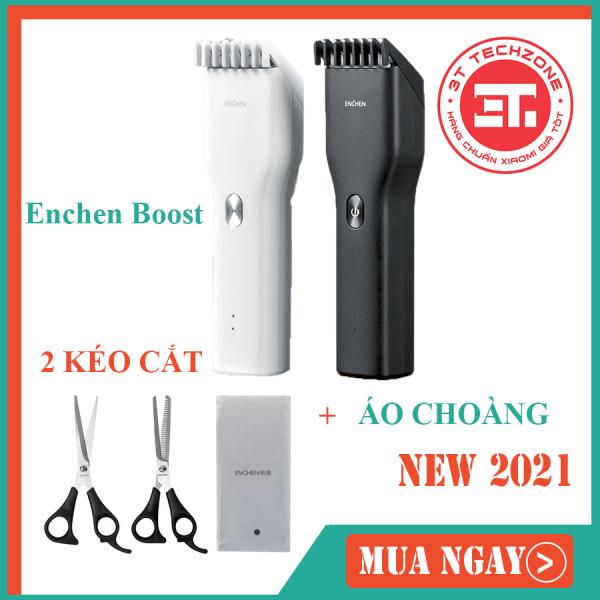 Tông đơ cắt tóc Enchen Boost (Xiaomi youpin ) có bộ kèm 2 kéo cắt và áo choàng