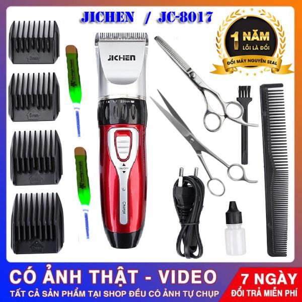 (Bảo Hành 12 tháng)tông đơ cắt tóc gia đình JC0817 Tăng đơ jichen + tặng bộ kéo cắt tỉa + 2 dụng cụ lấy ráy tai có đèn cao cấp