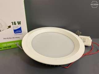 Combo bộ 3 đèn led downlight rạng đông âm trần d at04l 155 / 16w - 25w - bảo hành 2 năm - hình 1