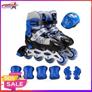 Giày trượt patin trẻ em, Tặng Kèm Bộ Bảo Hộ (Mũ Bảo HIểm và Bảo Vệ Tay Chân) BH 12 tháng thumbnail