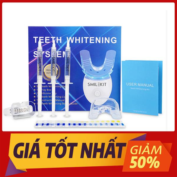 Máy làm trắng răng tại nhà Smile Kit, Máy tẩy trắng răng bằng kem cực đơn giản, nguyên liệu từ thiên nhiên giúp răng trắng sáng, hơi thở thơm mát, Hiệu quả rõ ràng chỉ sau 1 thời gian ngắn