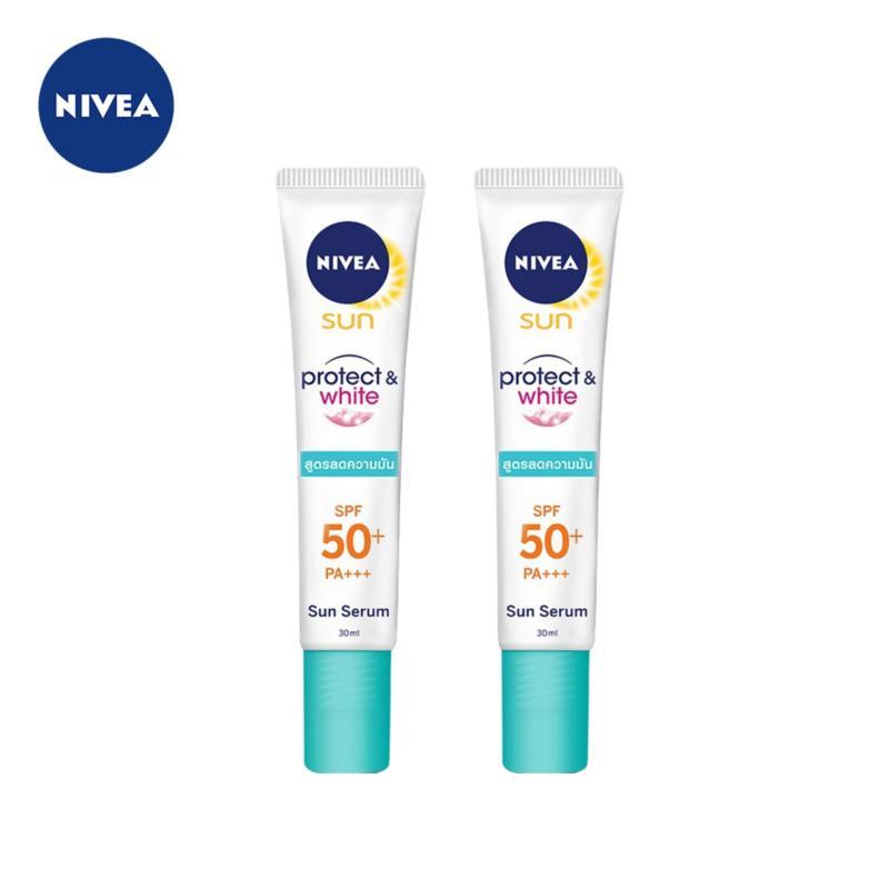 Combo Serum Chống Nắng Dưỡng Trắng và Kiểm Soát Nhờn Nivea SPF50 PA+++ 30mlx2 nhập khẩu