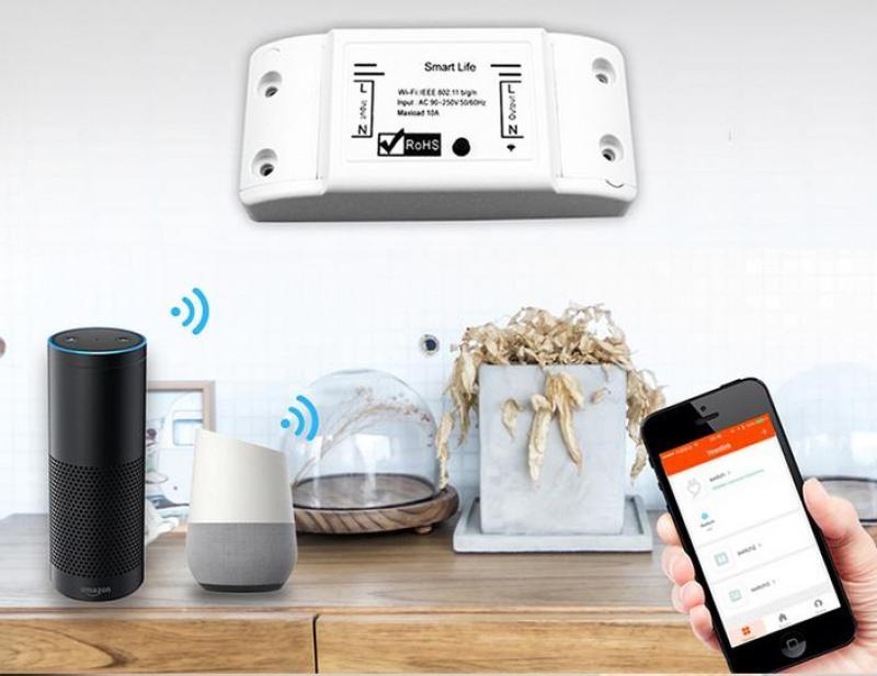 Bộ 2 công tắc wifi/3G/4G smart Life 10A/220V- BẢN TIẾNG VIỆT DỄ SỬ DỤNG KHÔNG LO BỊ KHÓA, công tắc điều khiển từ xa, ổ cắm điều khiển từ xa, công tắc điện thông minh điều khiển bằng điện thoại, công tắc hẹn giờ, ổ cắm hẹn gi�