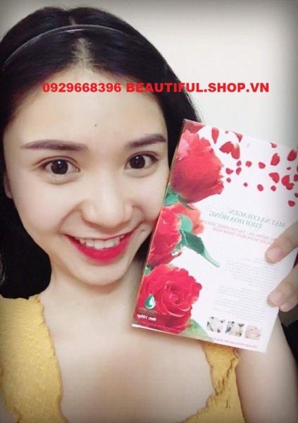 ✔️[100% Chính Hãng] Mặt Nạ Hoa Hồng Collagen Ngân Bình Dưỡng Trắng Hồng Khỏe Da, Ngừa Thâm, Nám, Tàn Nhang cao cấp