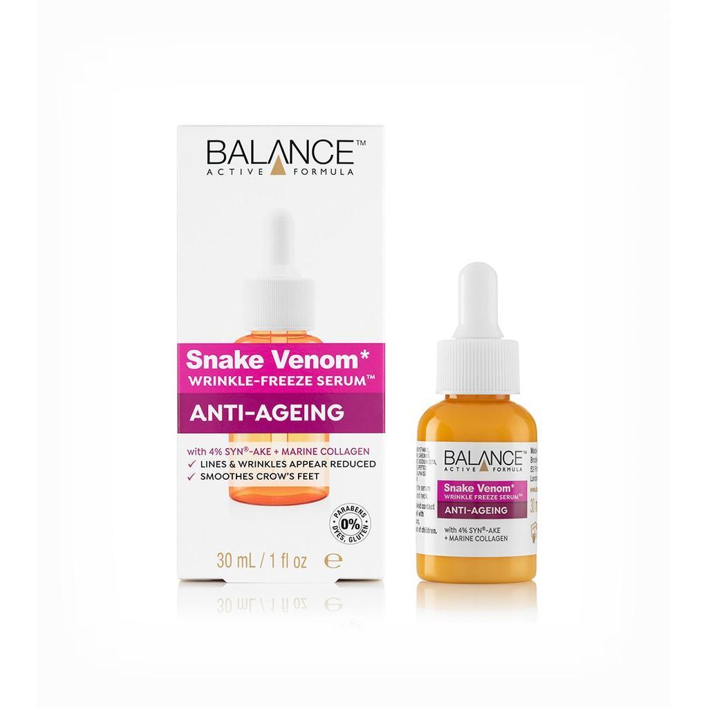 Serum Nọc Rắn giúp nâng cơ, giảm nhăn Snake Venom Wrinkle Freeze Balance Active Formula