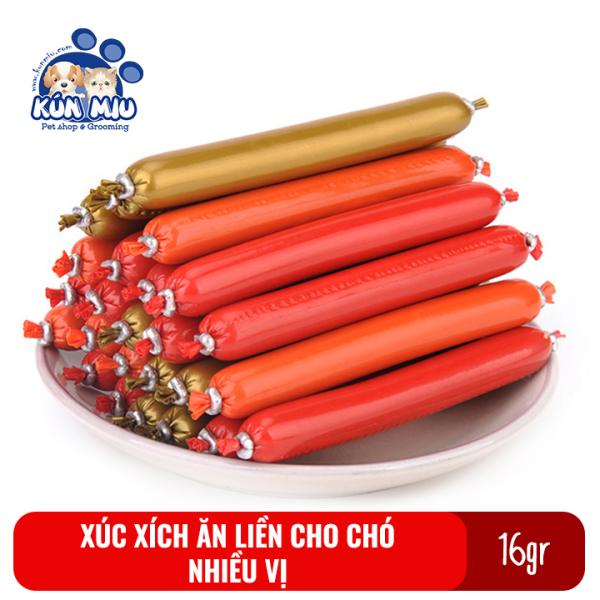 Combo 5 chiếc Xúc xích ăn liền cho chó mèo, hamster hương vị thơm ngon bổ dưỡng 16gr
