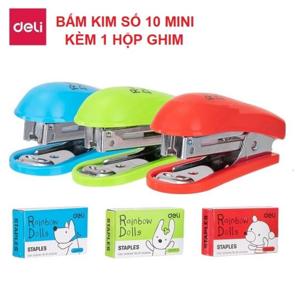 Mua Bấm Kim Mini Deli 0253 - Kèm 1 Hộp Ghim