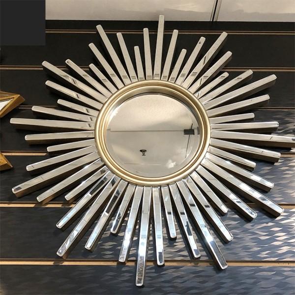 Gương Trang Điểm Treo Tường Hoa Mặt Trời Cao Cấp Trang Trí Phòng Ngủ - Gương Tròn Treo Tường, Gương Nhà Tắm Độc Đáo