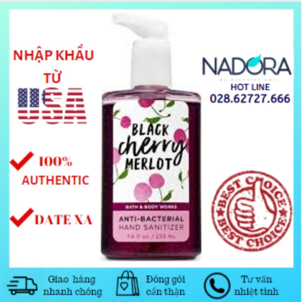 Rửa tay khô Bath and Body Works Black Cherry Merlot (225ml) nhập khẩu