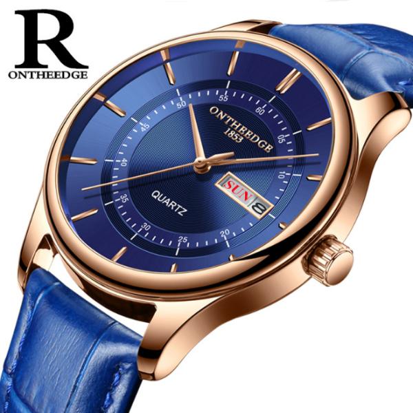 Đồng hồ nam Ontheedge RZY029 dây da thời trang Fullbox chính hãng (Xanh) bán chạy