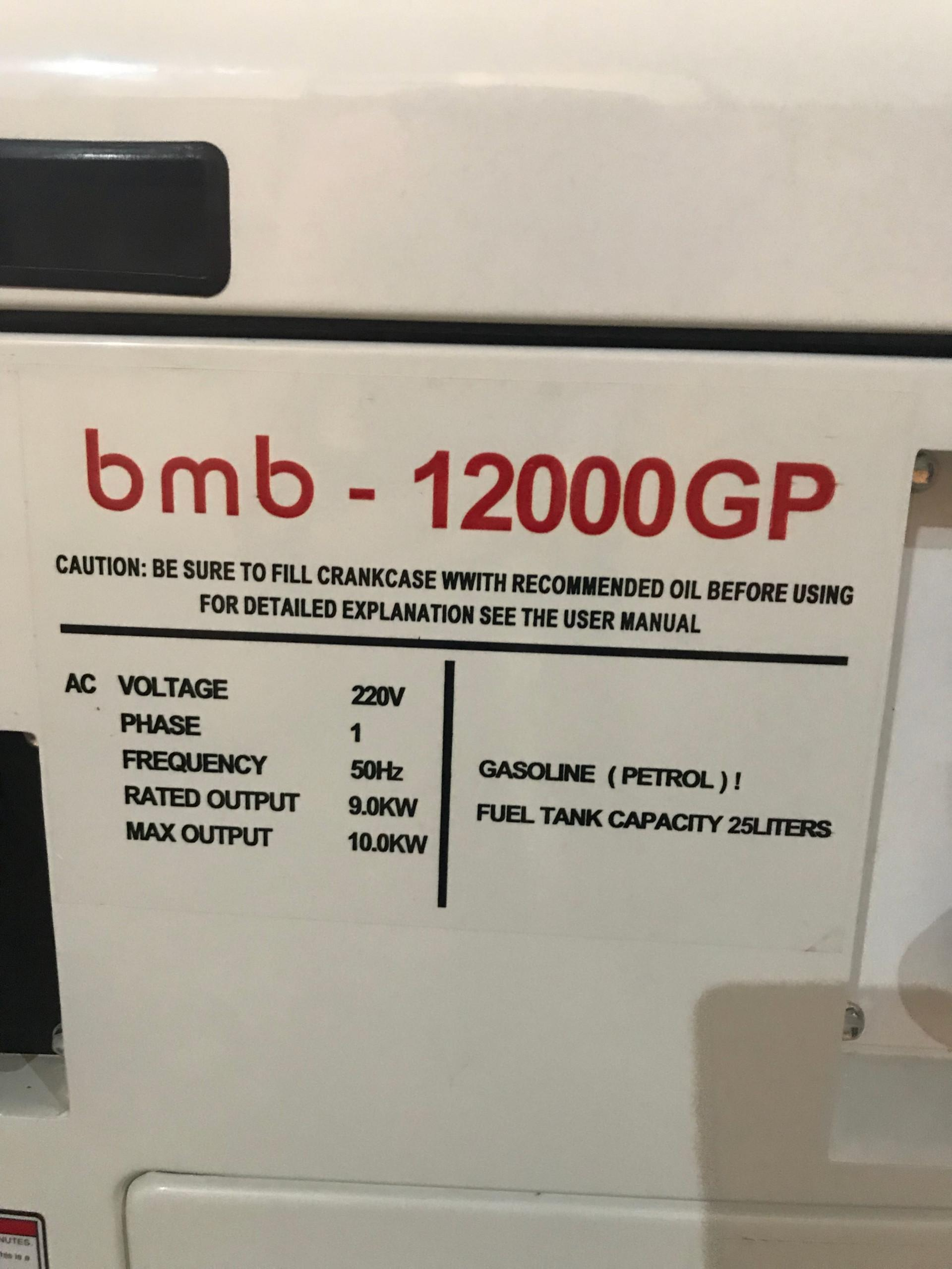 máy phát điện BmB 12000GP chạy xăng