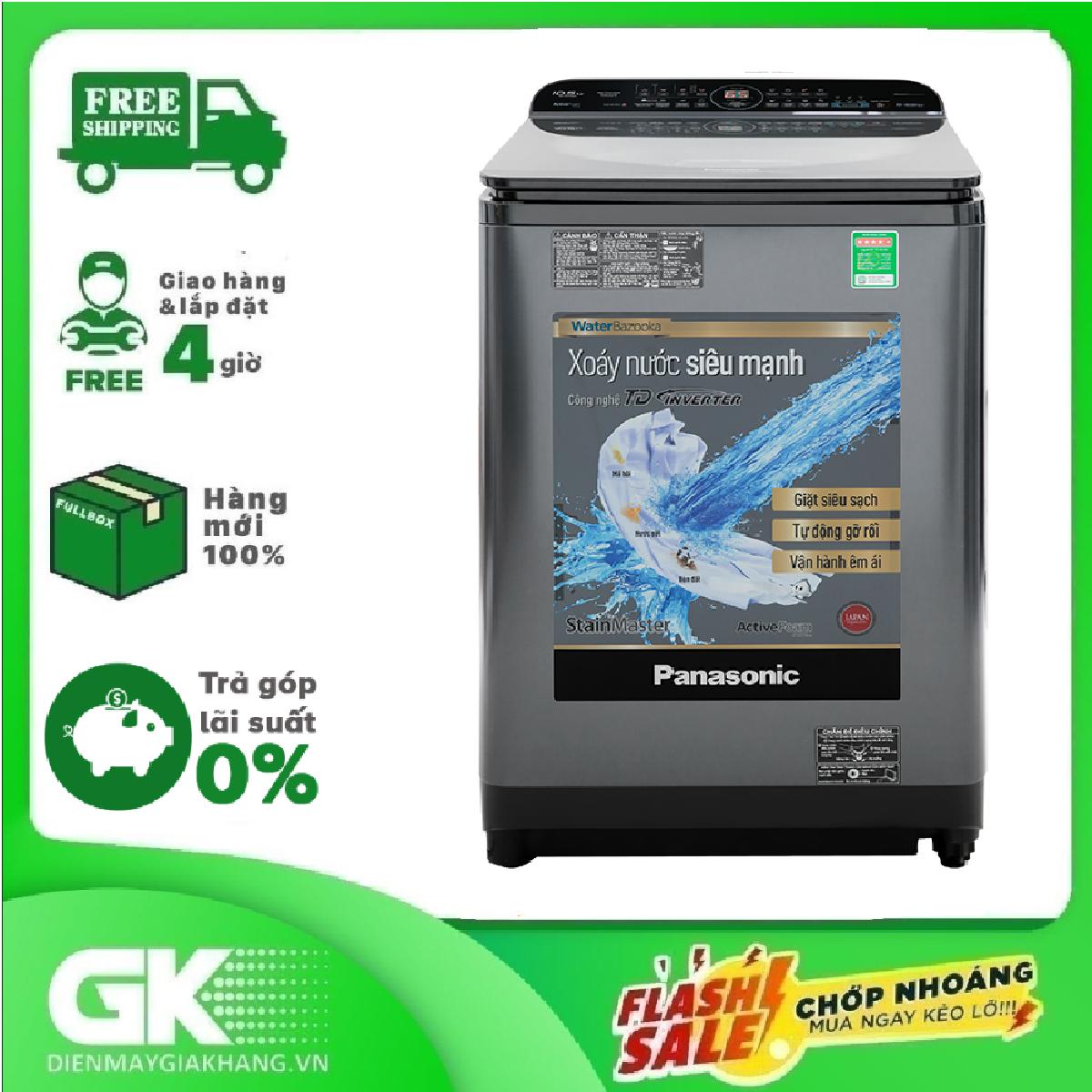 TRẢ GÓP 0% - Máy giặt Panasonic Inverter 10.5 Kg NA-FD10AR1BV- Bảo hành 2 năm