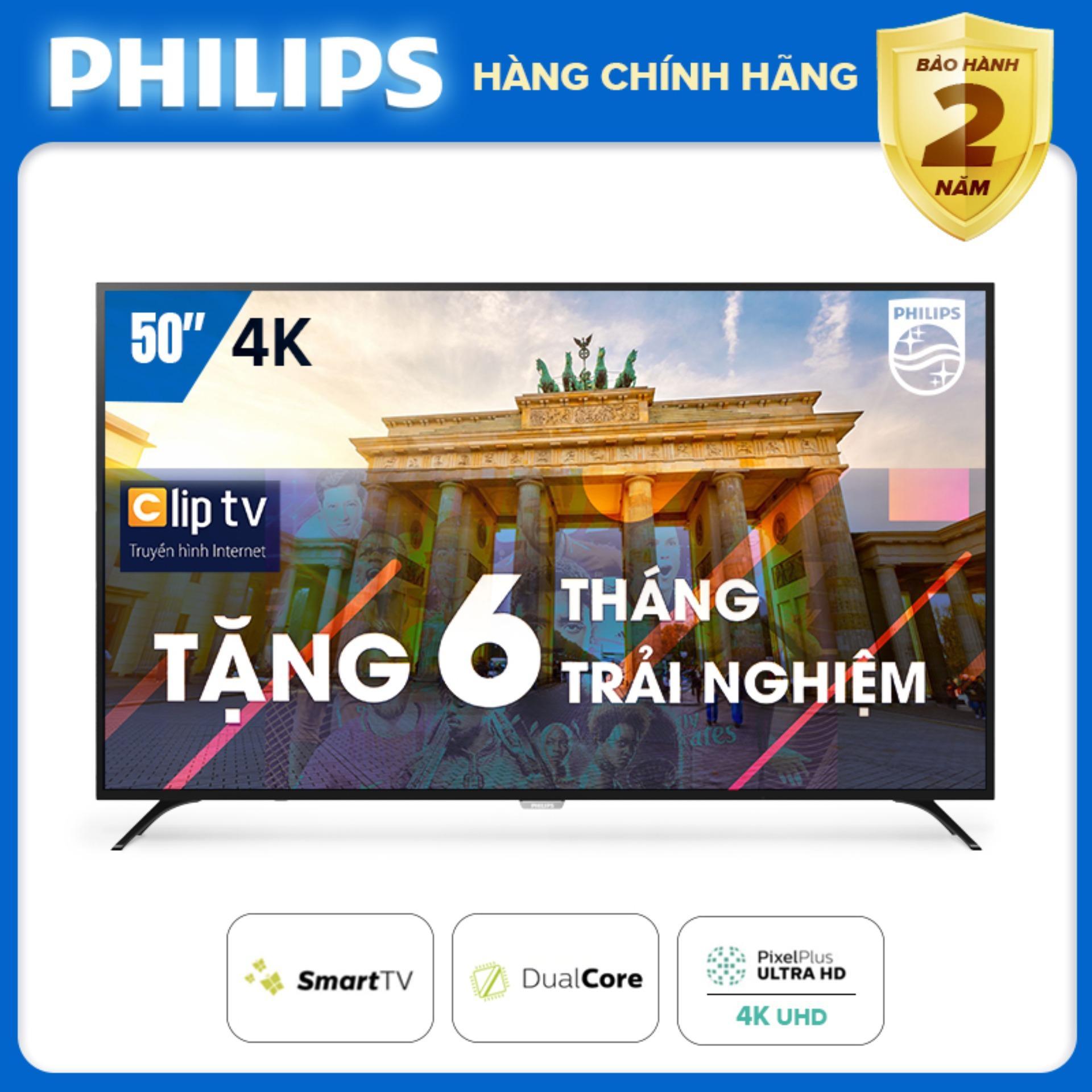 Bảng giá SMART TIVI 4K UHD 50 INCH KẾT NỐI INTERNET WIFI - hàng Thái Lan - Free 6 tháng xem phim Clip TV - Bảo hành 2 năm tại nhà - 50PUT6023S/74 Tivi Philips