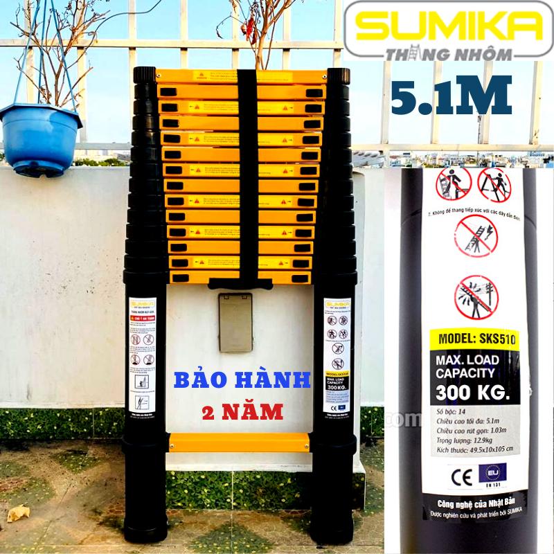 Thang nhôm rút đơn 5,1m Sumika SK510 SKS510