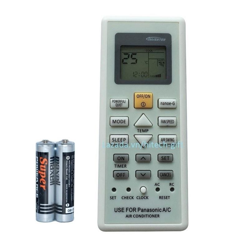 Remote Điều Khiển Cho Máy Lạnh, Điều Hòa Panasonic Nanoe-G CS/CU-PU9UKH, N9UKH (Kèm Pin AAA Maxell)
