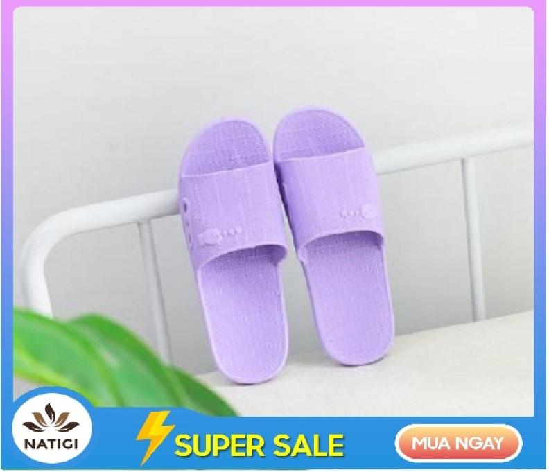 Dép lê xốp nam nữ đi (mang) trong nhà, văn phòng, nhà tắm chất liệu nhựa đúc nguyên khối siêu nhẹ, chống trơn DVS04 giá rẻ