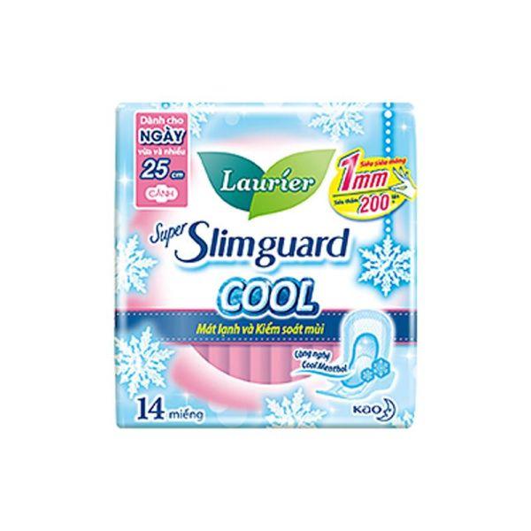 Băng Vệ Sinh Laurier Super Slimguard Cool Mát Lạnh & Kiểm Soát Mùi 25CM 14M
