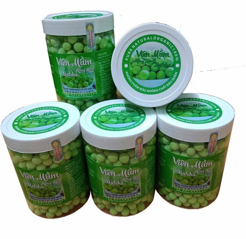 [500G] Kẹo Mầm Đậu Nành Hồng sâm Matcha (Tặng 100G bột mầm đậu nành) cao cấp