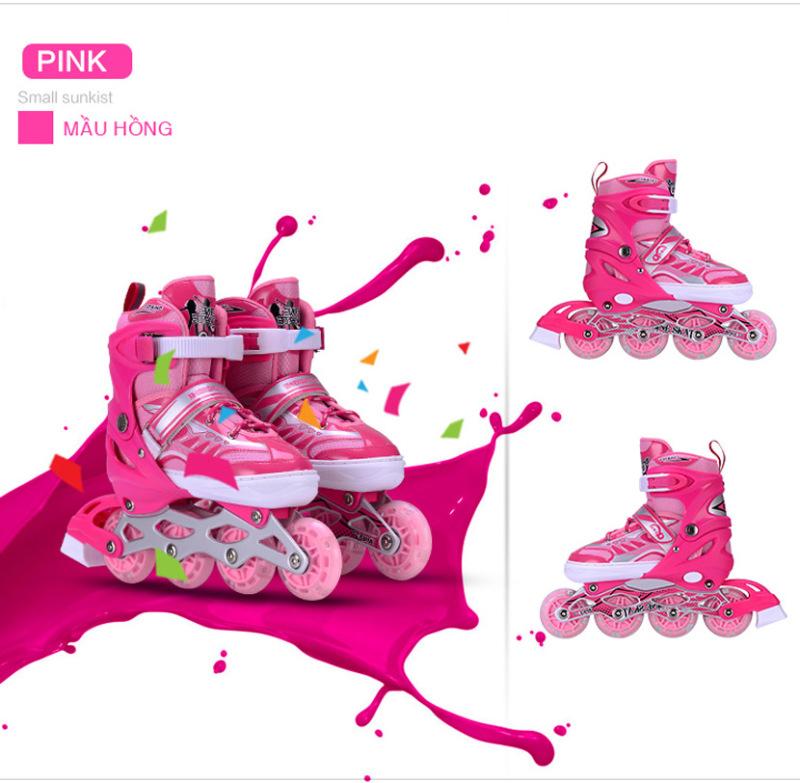 Phân phối giầy trượt patin inline chaoku mầu hồng ck01