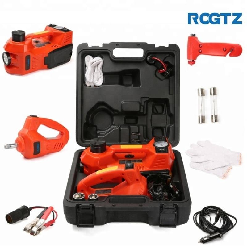 Bộ nâng kích gầm điện, kiêm máy bơm lốp và máy siết ốc ô tô đa năng 3 trong 1 nhãn hiệu ROGTZ  TY-155EHJS