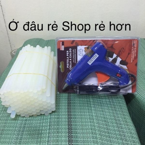Mua keo nến to + súng bắn keo to (combo 50 cây keo + 1 súng 60w)