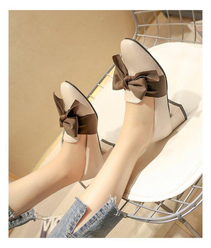 Giày nữ 3 phân đế vuông đi êm dễ phối đồ Mã BBP4 giá rẻ