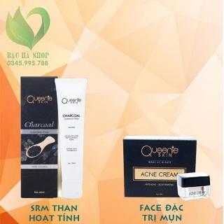 Combo dành cho da mụn gồm 1 sửa rửa mặt than hoạt tính và kem face dưỡng da mụn thumbnail