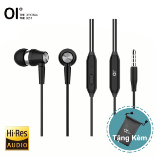 Tai nghe nhét tai OI J3 có dây giắc cắm 5mm có micro và nút điều chỉnh âm lượng và trả lời từ chối cuộc gọi có khả năng chống nước và khử tiếng ồn tương thích với tất cả thiết bị thumbnail