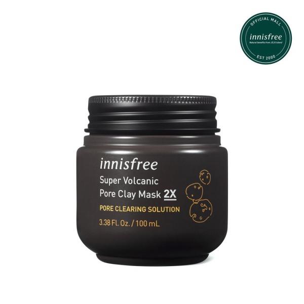 Siêu mặt nạ chăm sóc lỗ chân lông innisfree Super Volcanic Pore Clay Mask 2X 100ml nhập khẩu