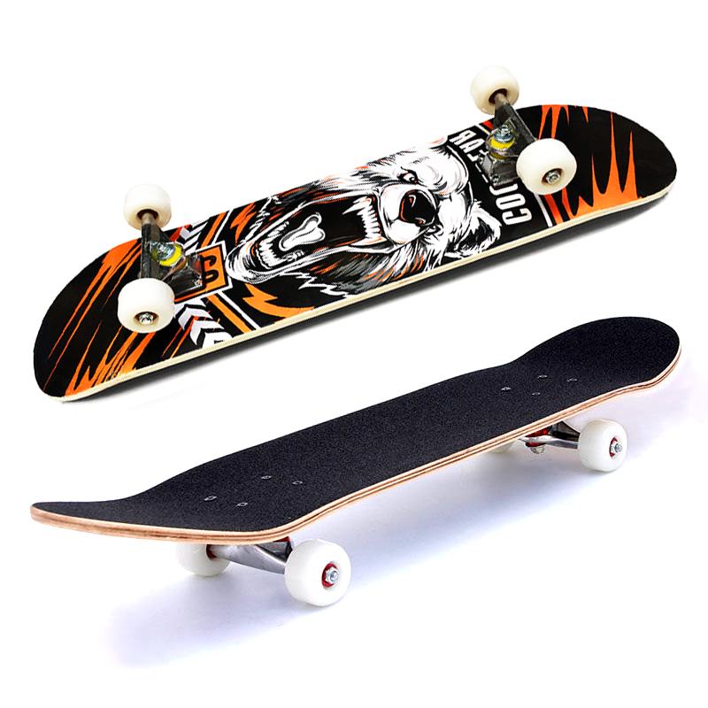 Giá bán Ván trượt Supreme mặt nhám , Ván trượt skateboard , Trượt ván hình nhám bánh cao su trong Đẳng Cấp, Trục bánh hợp kim nhôm chịu lực Cao, Chống bào mòn